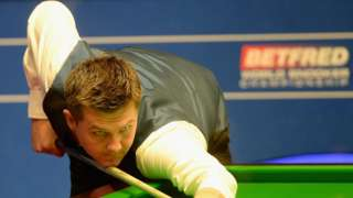 Ryan Day concentrates on a shot