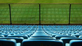 Estádio de futebol vazio na Argentina