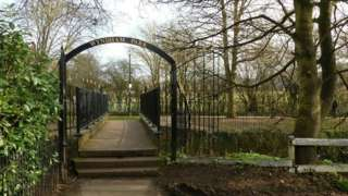 Entrance to Wyndham Park