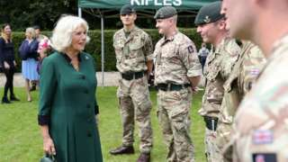 Camilla visiting The Rifles