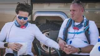 Nick Grimshaw and Judge Rinder on the Sport Relief challenge