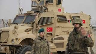 ترکیه، حامدکرزي هوايي ډګر، امنیت، طالبان
