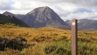 West Highland Way waymarker