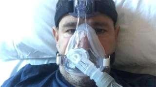 Abderrahmane Fadil receiving oxygen