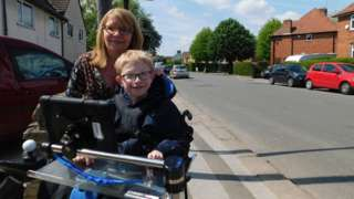 Josh Higginbottom and mum Sharon Davis