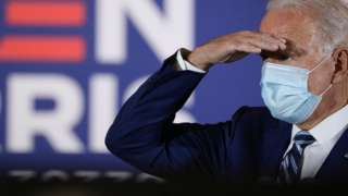 Joe Biden speaks at the Southwest Focal Point Community Center, in Pembroke Pines, Florida, US, October 13, 2020.