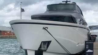 A yacht at Southampton International Boat Show 2021