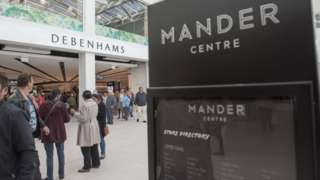 Mander Centre sign