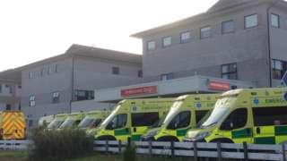ambulances queuing