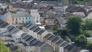 An aerial shot of Merthyr