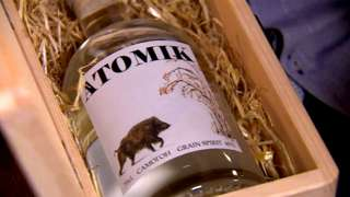 Atomik brand vodka bottle