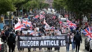 Shankill NI Protocol protest