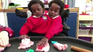 The twins in school
