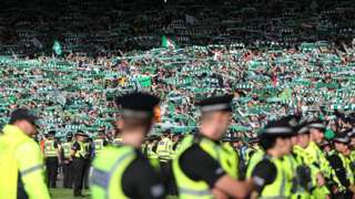 Hibs fans after cup final