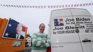The sign on the back of Joe Blewitt's work van has raised a few laughs in Ballina