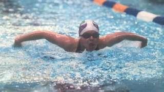 Erin swimming