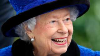 The Queen on 16 October 2021