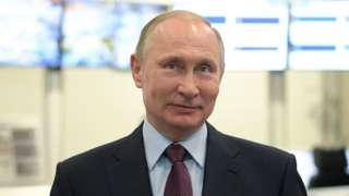 Russian President Vladimir Putin visits the Yamal LNG plant in the port of Sabetta