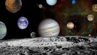 ภาพดาวเคราะห์ในระบบสุริยะที่ยานวอยาเจอร์ 2 บันทึกไว้ และนำมาประกอบรวมกัน