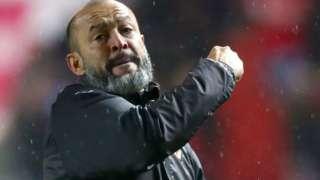 Nuno Espirito Santo celebrates Wolves' victory