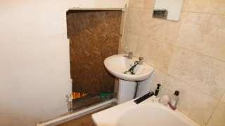 Secret door in bathroom