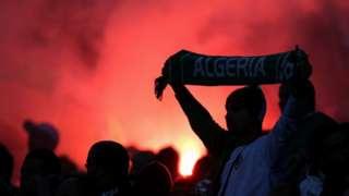 A football fan in Algeria