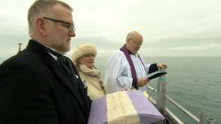 Ceremony for Audrey Maguire held on the Mudeford Ferr