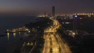 Jedda City by night