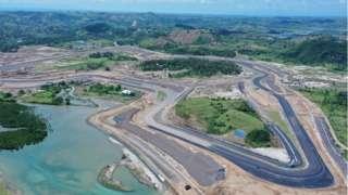 Perkembangan pembangunan Sirkuit Mandalika di bulan April