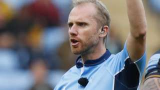 Referee Wayne Barnes sent off two members of the Wasps coaching staff during the game against Exeter