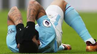Gabriel Jesus was injured at Crystal Palace
