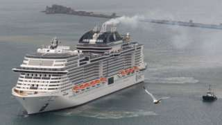 The MSC Virtuosa cruise ship