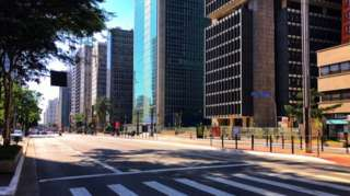 Avenida Paulista vazia