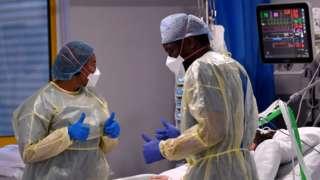 Nurses in PPE in Milton Keynes
