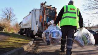 Refuse collection in Leatherhead, Surrey