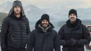Freddie Flintoff, Chris Harris and Paddy McGuinness