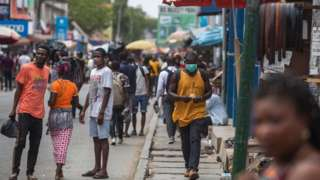 Kantamanto market after the partial lockdown in parts of Ghana
