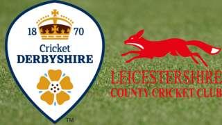 Derbyshire v Leicestershire badges