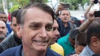 Jair Bolsonaro leaves Villa Militar, after casting his vote