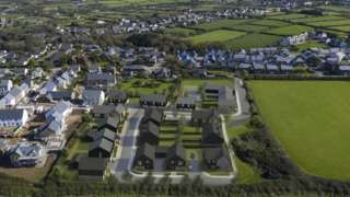 Photomontage showing how the proposed housing development in St Agnes could look