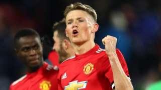 Manchester United's Scott McTominay celebrates