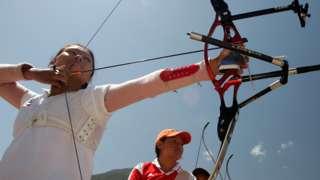 Dorji Dema training for the Beijing Olympics