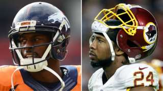 Denver Broncos wide receiver Emmanuel Sanders and Washington Redskins cornerback Josh Norman