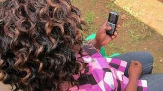 Uganda mobile phone user