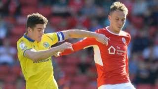 Barnsley skipper Cauley Woodrow was well marshalled by Blackburn's defence