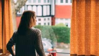 Woman isolating