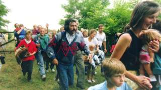 In 1989 scores of East Germans surprised Hungarian border guards and rushed into Austria