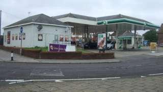 A petrol station on Jubilee Way, Lowestoft
