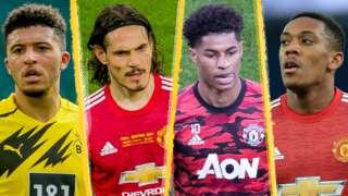 Sancho, Cavani, Rashford & Martial