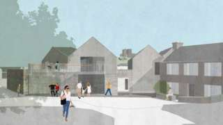 Artist impression of new development in Criccieth